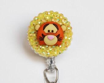 Disney's Tigger Sparkly Tsum Tsum ID Badge Reel - Retractable ID Badge Holder - Zipperedheart