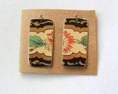 Reclaimed Vintage English Tea Tin Earring Findings