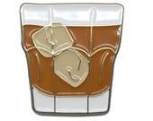 """Whiskey - 1"""" soft enamel pin - SKU PIN-705"""