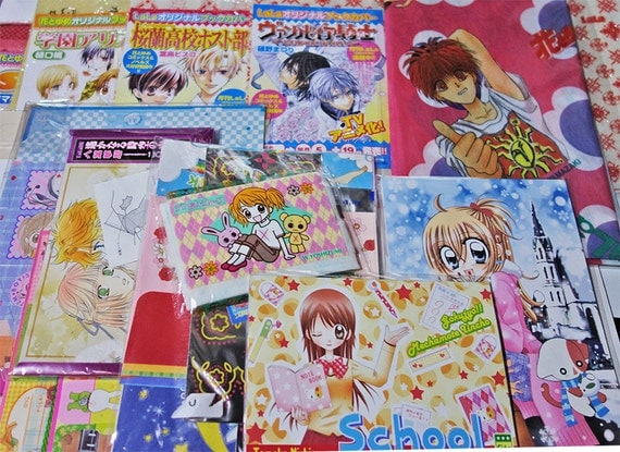 School Book Cover Stickers : Japanese shoujo manga anime stickers post cards book covers