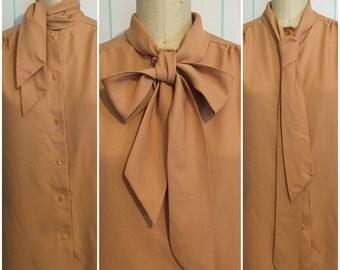 Tan Shirt with Necktie