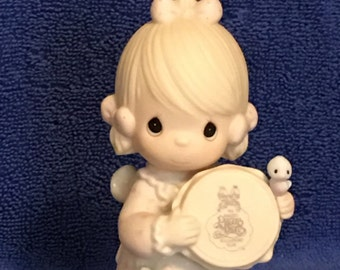IOB 1986 Precious Moments Figurine - Symbol of  Membership - Birds of a Feather Collect Together   (Item 415)