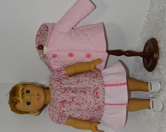 Pink Three-Piece Jacket Set, Fits 18 Inch American Girl Dolls