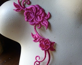 Fuchsia Flower Applique for Headbands, Costumes Iron On IRON 44hfp