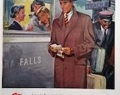 1948 Hart Schaffner & Marx Coat Advertisement - Coat, Fashions, Advertisements, Vintage Paper Ephemera, Fashion Ephemera, Magazine Ad
