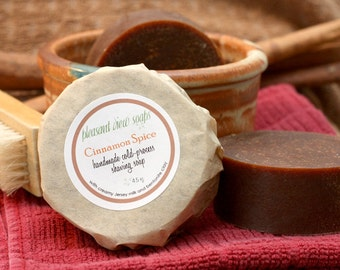 Cinnamon Spice Shaving Soap Cold-Process Bar with Milk