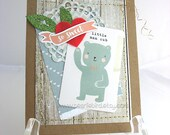 So Sweet Baby Boy Handmade Gift Card~Boy Baby Shower Gift~Boy Birthday Card~Unique Card~One of a Kind Card~Baby Boy Decor~Hearts~Love