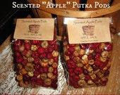 Primitif des gousses de pomme ou Putka Pods en rouge et naturel, parfumé votre choix comme un pot pourri parfait pour toutes les vacances de décoration année