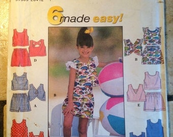 Simplicity 7666 Size 5, 6, 7, 8  Child's Top and Shorts UNCUT