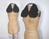 Fox Black Collar / soft genuine fur / peter pan