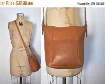 SALE 40% OFF Leather Purse Bag Handbag / rich honey brown