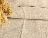 C 939 antique handloomed 3.71 yard 24.41inches BROWNISH upholstery lin french pillow cushion