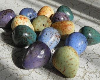 multi color porcelain spring easter eggs
