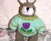 Stuffed Plush Animal Bunny Rabbit Easter Basket Spring Child's Toy 9 Inch