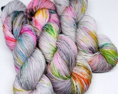 Hand Dyed Speckled Yarn - Sport Sock 80/20 - 328 yards - Distortion