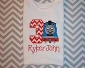 Thomas The Train Appliqued Birthday Tshirt
