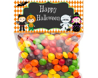 Halloween Bag toppers, Treat Bag Toppers, INSTANT DOWNLOAD, Printable Halloween Bag Toppers, Kids in Costumes