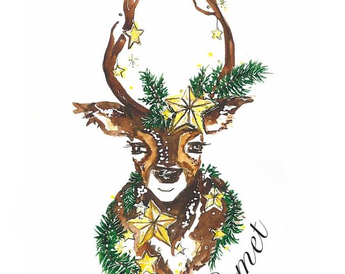 Comet: Santas Reindeer Print
