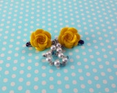 Yellow Rose Sweater Clips