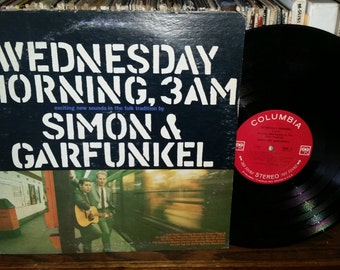 Simon And Garfunkel Wednesday Morning 3 AM Vintage Vinyl Record