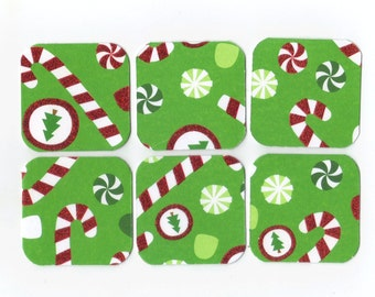 SALE Christmas Mini Note Cards (set of 6) CMN2 / Ready To Ship