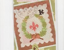 Roman Holiday Vintage Stamp Collection Joanna Figueroa Quilted Wall Hanging Pattern