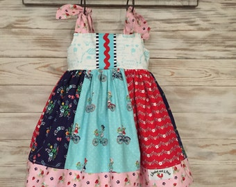 Harley Jumper...Girls Jumper...Riley Blake Vintage Market Fabric...Sizes 6-12M - Girls 8