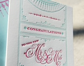 To The New Mr & Mrs Letterpress Greeting Card
