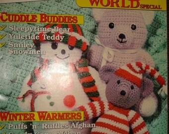 Crochet World Magazine/Winter Special 1992/Crochet Patterns/Winter Patterns/Christmas Patterns/Stuffed Animal Crochet Patterns/Home Decor
