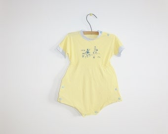 Vintage Yellow Jack and Jill Romper