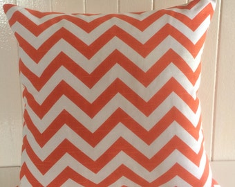 Pillow Cover, Pillow, Decorative Pillow, Orange Chevron/Zig Zag Cushion Cover - FREE SHIPPING AUS Only