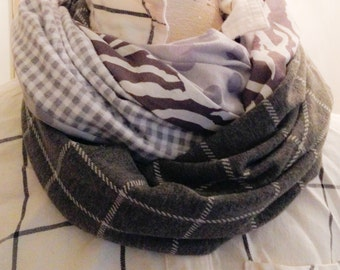 shades of grey infinity scarf