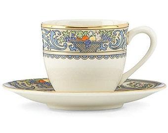 Autumn Pattern, Demitasse, Cup & Saucer,Lenox China, Fine China, Victorian China, Edwardian China, Wedding China, Bridal China