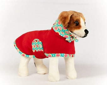 Betty: Dog Fleece, Dog Fleece Coat, Dog Coat for Winter, Dog Coat with Snood, Greyhound Coat