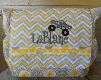 Diaper Bag * Convertible * Extended Changing Pad * Quilted