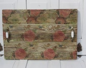 Reclaimed Wood Tray *Romantic Shabby Serving Tray*Cottage Chic Tray* Soft Florals