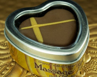 Golden Elevation MASSAGE TRUFFLE organic edible chocolate body balm