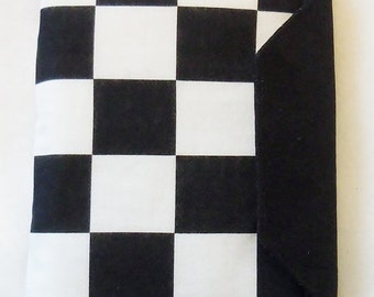 ON SALE - Black and White Checkered Flag - Tablet E-Reader Case Cover