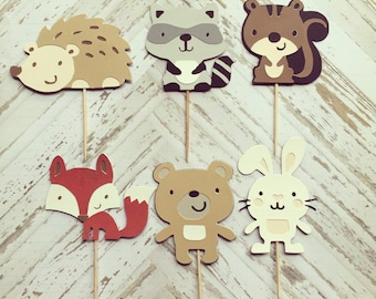 2 Dozen Woodland Creatures Cupcake Picks