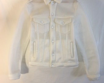 White Neoprene Mesh Jacket