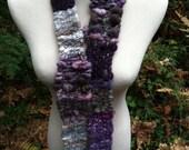 SALE Handspun Woven Fun & Funky  Wool Scarf