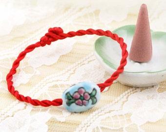Oriental porcelian twisted bracelet