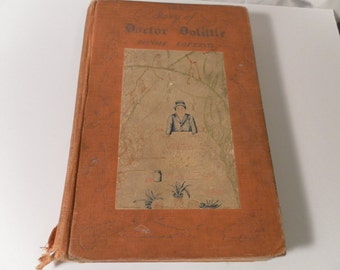 The Story of Doctor Dolittle by Hugh Lofting vintage book 1927