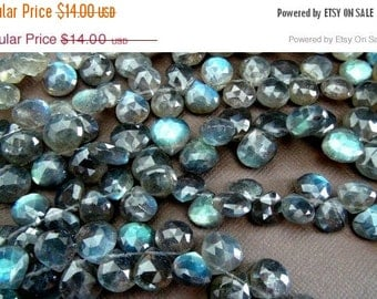 35% OFF Flashy Labradorite faceted heart briolette