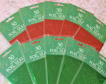 FOIL ENVELOPE SEALS,  300 nos embossed  diamond shaped seal stickers