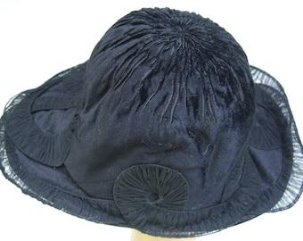 1920's Black Sheared Beaver Fur Women's Hat