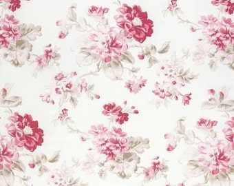 NEW Winters Garden from Tanya Whelan Floral in Red 1 yard