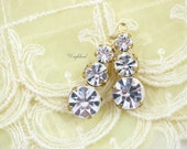 2 - Swarovski Preciosa Crystal Set Stones 1 Ring Rhinestone Drops Earring Dangles Settings 23mm