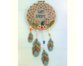 Sweet Dream Catcher hand embroidery pdf downloadable pattern