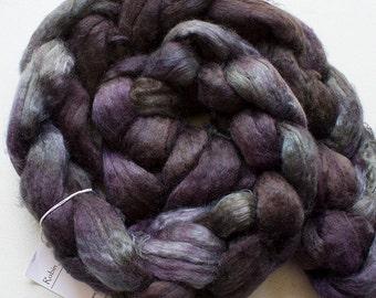 Superwash wool & Tencel Roving, 60/40, 4 oz. - Storm